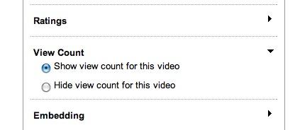 hide youtube views