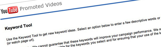 youtube google keyword tool